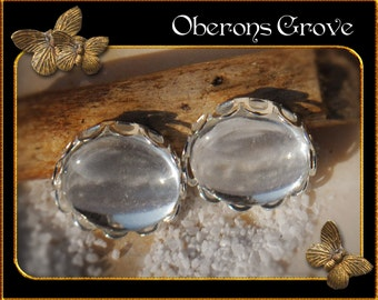 10 light silver settings with 12mm cabochons