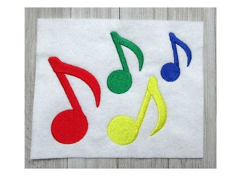 Music Note Embroidery Design, Music Design, Eighth note, 8th note, Music,  Music Lover, Machine Embroidery, 4 Sizes, Filled Stitch