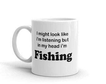 Fathers Day Fishing - Fishing Father Gift - Coffee Mug Fish - Fishing Gifts Dad - Under 20 Mugs - Fishing Mug - Fisherman Gift