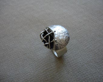 Reticulated Silver Ring