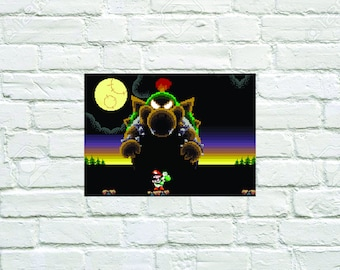 Bowser Fight: Yoshi's Island (Video Game Art)