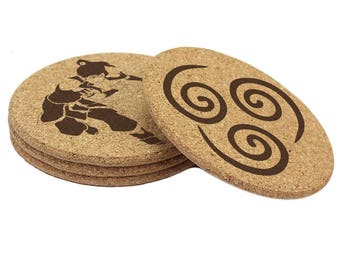 Avatar the Legend of Korra Double Sided Coasters (set of 4)