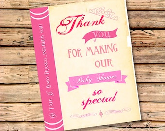 Once Upon A Time Thank You Cards | Free Custom Color | Matching Cards to Invite | Personalized Thank You's | Baby Shower Thanks (Set of 25)