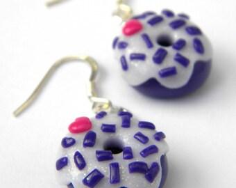 Bo donuts violet petit coeur