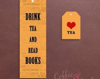 Tea & Books Printable Bookmark