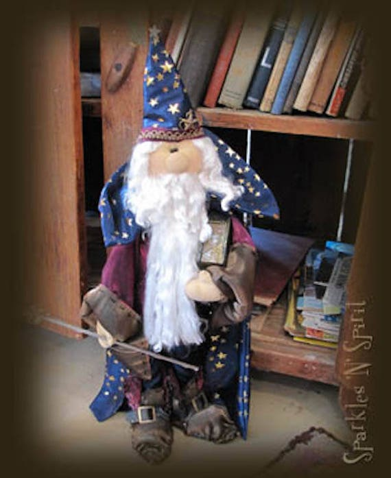 """Doll Kit: """"Winston""""  Wizard  for doll pattern by Sparkles n Spirit"""