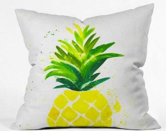 Pineapple Sunshine Outdoor Throw Pillow