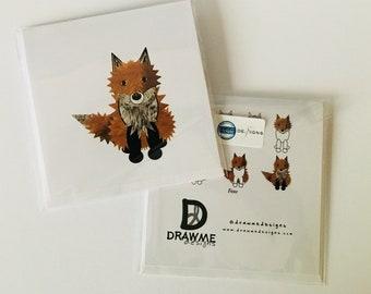 Fox Greeting Card by DrawMe Designs