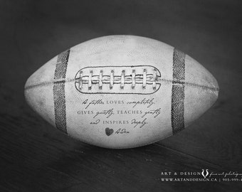 Personalized Fathers Day Gifts for Him, Birthday Gifts for Father, Dad Gift from Son, Father Daughter Gift, Football Decor Sport Lover Print