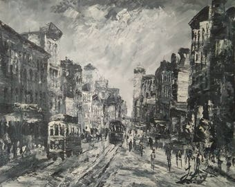 NYC Seventh Ave and West 29th Street-Pen King -A1351