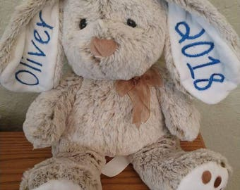 Custom Easter Bunny - name and year - many colors! - Great gift! Fast shipping.