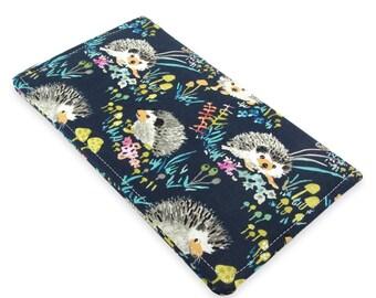 Hedgehog Checkbook Cover Wallet - Slim, Two Pocket Design Holds Cash And Checkbook