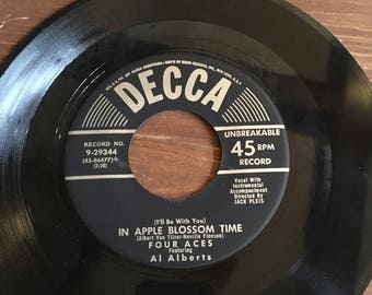Four Aces Mister Sandman/In Apple Blossom Time 45 RPM Vinyl Record **free shipping**