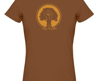 Rooted Tree Power T shirt tops and tees t-shirts t shirts| Free Shipping