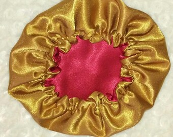 Red & Goldie Satin Bonnet