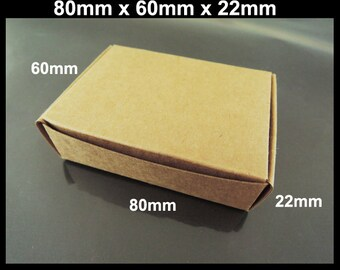 Kraft Paper Box - 10pcs Brown Kraft Boxes Paper Box Gift Boxes Gift Wrapping 80mm x 60mm x 22mm