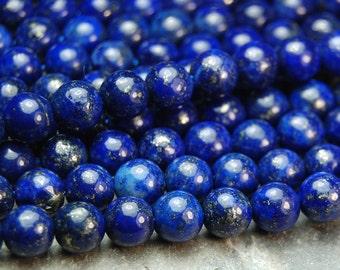 4mm Lapis Lazuli Round Beads (A Grade)   -15.5 inch strand
