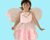 Girl's pink fairy cos...