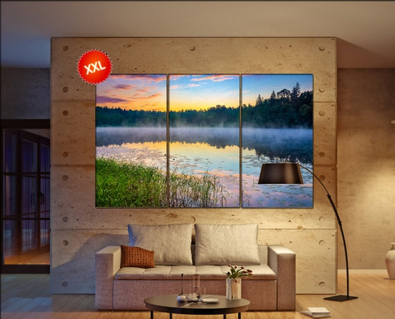 forest lake  canvas wall art forest lake wall decoration forest lake canvas wall art art forest lake large canvas wall art  wall decor