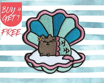 Cat Patches Mermaid Patch Iron On Patch Embroidered Patch Sew On Patch Patches For Jeans
