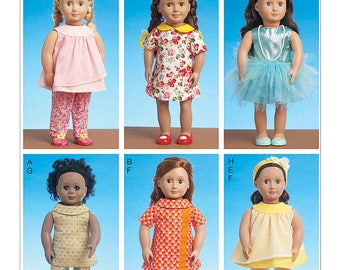 McCalls 7336- Sewing pattern for 18 Inch Doll Clothes- Fits American Girl Dolls-