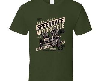 Born To Race Speedrace Motorcycle 1968 T Shirt
