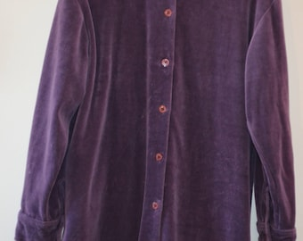 Get 15% discount with coupon code NEW15 purple blouse loose fitting velvet 90's / M *.