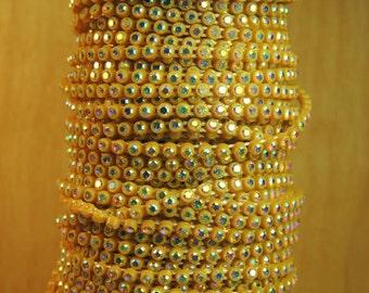SS8 Gold/AB Rhinestone banding