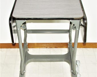 Retro Typing Table Industrial Drop Leaf Table Great For Plants n More Unique Design Very Industrial Chic