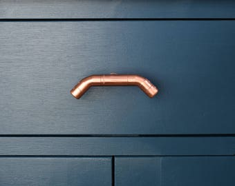 Angular Copper Handle/Pull, Contemporary Drawer Pull, Handle, Kitchen Door Handle-copper pulls-drawer pulls-drawer handles-knobs and pulls