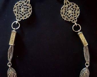 Morocco - Pair of fibula - TIZERZAI pectoral ornament in Silver - FES