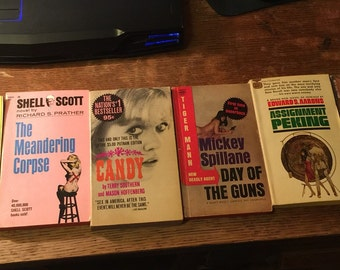 Six 1960s Paperback Thrillers