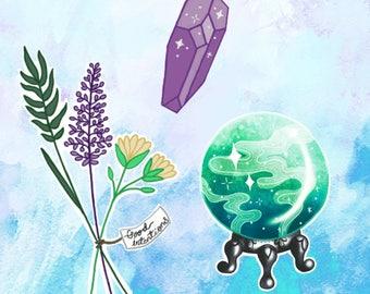 Gypsy Stickers, Fortune Teller Stickers