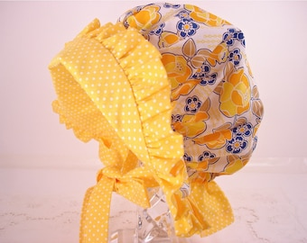 Child's  Sun Bonnet with back neck protective flap - Made To Order