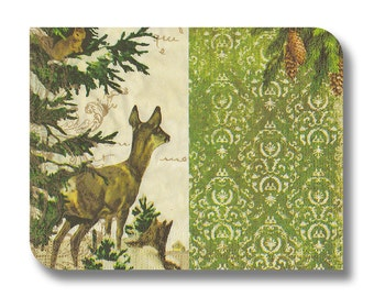 Woodland paper napkin for decoupage x 1 Forest View. No 1284