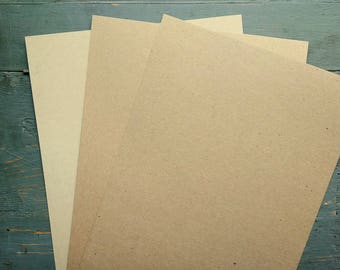 """100 Sheets Kraft Card Stock, 8.5x11"""" Cardstock, 100% Recycled, 8 1/2x11"""" (216x279mm) 65-105lb. cover, grocery bag kraft brown or light brown"""