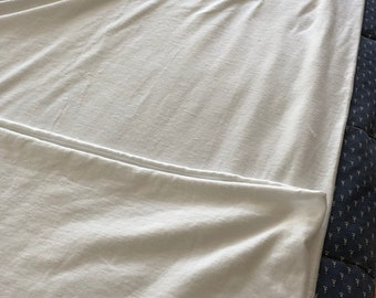 white cotton knit jersey, yes very white! 2 1/4 yds x 60 inches wide