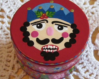 Hand Painted Love Boxes Nutcracker Wood Trinket Box