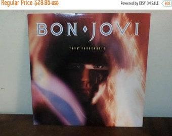 Vintage 1985 Vinyl LP Record 7800 Fahrenheit Bon Jovi Near Mint Condition 13696
