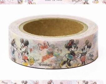 Disney Mickey & Minnie Washi Tape - Paper Masking Tape 15mm ×10m