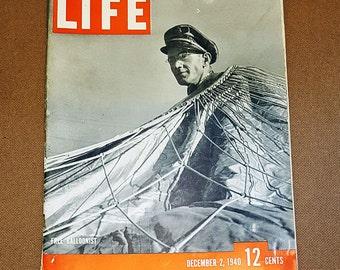 Vintage LIFE Magazine December 2, 1940