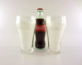 7 Vintage Coke Glasses