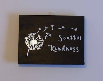 Scatter Kindness Vinyl and Canvas Wall Hanging Decor