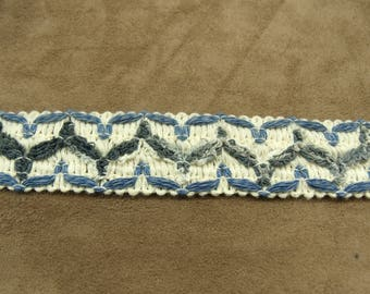 FANCY Ribbon - 3 cm - light blue & dark blue