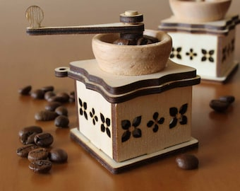 Christmas tree decoration Coffee Mill - Lasercut blank - lasercut blank for decoupage, painting - present