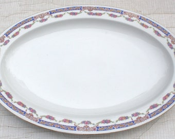 Platter/Fleischplatte/Kuchenteller/Platte porcelain Art Nouveau vintage