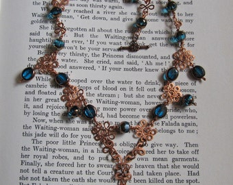 Item 2339 Copper and Teal Necklace