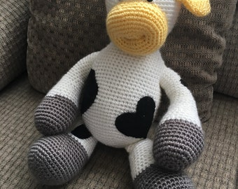 Plush Crochet Cow