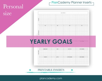 Yearly goals - break down | personal size | Filofax mo2p | with lines