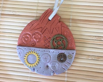 Steampunk Halloween Pumpkin Holiday Ornament - Autumn Fall Thanksgiving Home Decor style 3